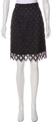Burberry Knee-Length Pencil Skirt Navy Knee-Length Pencil Skirt