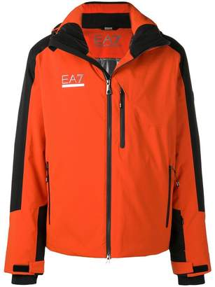 Emporio Armani Ea7 logo plaque hooded jacket
