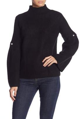 Do & Be Do + Be Knit Mock Neck Bell Sleeve Sweater