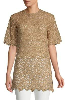 Valentino Guipure Lace Tunic Top