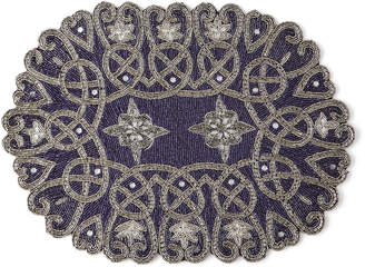 Nomi K Oval Star Hand-Beaded Placemat