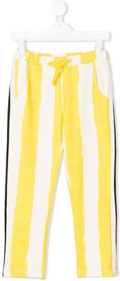 Noé & Zoe drawstring waist printed trousers