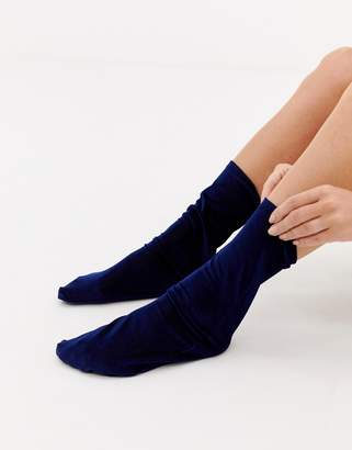 Asos DESIGN fine cord ankle socks