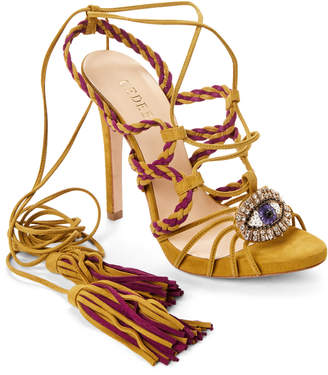 Gedebe Corinne Eye Strappy Ankle-Wrap Sandals