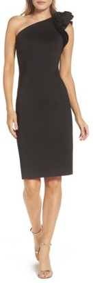 Women's Eliza J One-Shoulder Sheath Dress $148 thestylecure.com