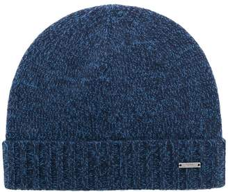 HUGO BOSS logo knitted beanie hat