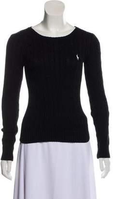 Ralph Lauren Cable Knit Scoop Neck Sweater