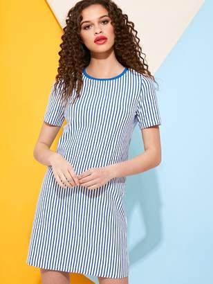 Shein Vertical Stripe T-Shirt Dress