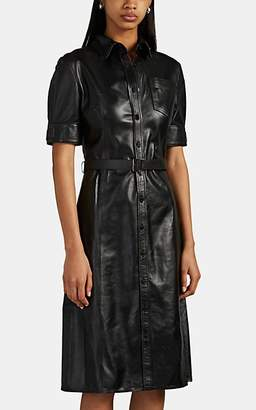 Altuzarra Women's Kieran Leather Shirtdress - Black