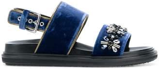 Marni Fussbett crystal sandals