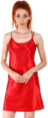 Simplicity Women's Nightshirts 100% Satin Chemises Slip Sleepwear