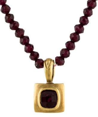 Robin Rotenier Garnet Bead Necklace