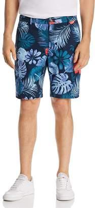Scotch & Soda Tropical-Print Regular Fit Chino Shorts
