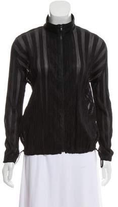 Pleats Please Issey Miyake Plisse Zip Front Sweatshirt
