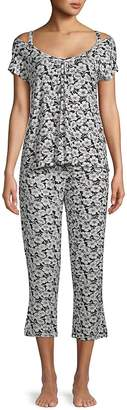 Catherine Malandrino Women's Two-Piece Capri Pajama Set