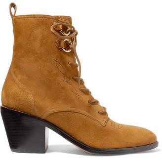 Diane von Furstenberg Dakota Suede Ankle Boots - Sand