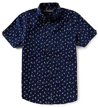 Ben Sherman Men's Short Sleeve Bird Print Shirt
