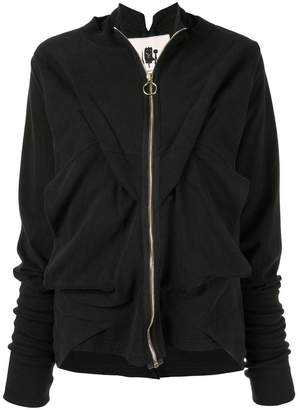 Aganovich gathered long sleeve jacket