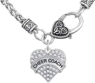 Coach Skyrim Fashion Cheer Crystal Heart Pattern Pendant Wheat Chain Necklace Jewelry
