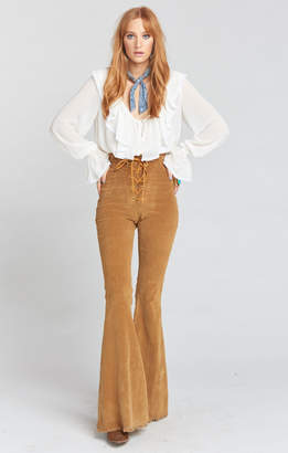 Show Me Your Mumu Cam Cam Lace Up Bells ~ Stretch Corduroy Hazelnut