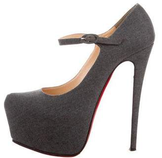 christian louboutin mary jane platform
