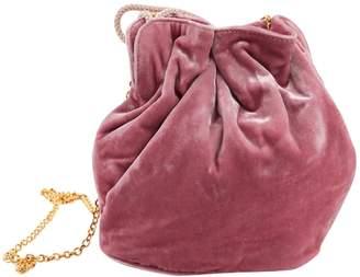 Bienen Davis Pink Velvet Handbag