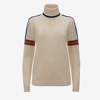 Bally Intarsia Stripe Roll neck Sweater