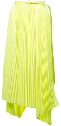 Juun.J asymmetric pleated skirt