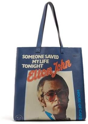Gucci Elton John Leather Tote Bag - Womens - Blue Multi