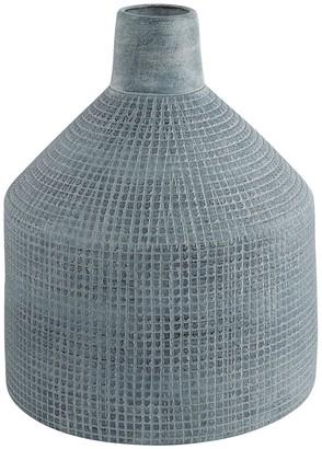Alba Grey textured grid pattern vase