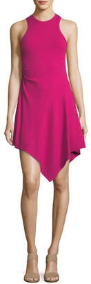 A.L.C. Bea Sleeveless Rib-Knit Dress w/ Asymmetric Hem