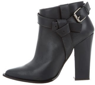 Thakoon Leather Pointed-Toe Ankle Boots
