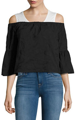 Buffalo David Bitton Embroidered Off-the-Shoulder Top $69 thestylecure.com