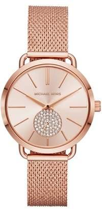 Michael Kors Portia Mesh Strap Watch, 37mm