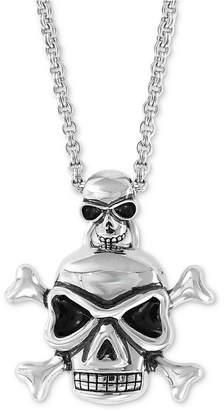 "Effy Men's Skull Pendant Necklace, 20"" + 2"" extender in Sterling Silver"