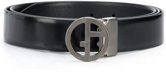 Giorgio Armani logo leather belt