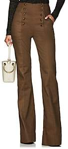 Ulla Johnson Women's Ashton Denim Wide-Leg Pants - Brown