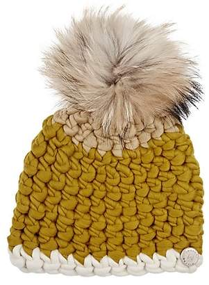 Mischa Lampert Women's Fur Pom-Pom Wool Hat - Dijon