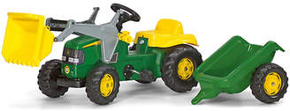 John Deere Rolly Kids Frontloader Tractor Trailer Ride On