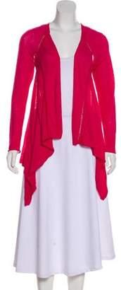 Lafayette 148 Rib Knit Long Sleeve Cardigan
