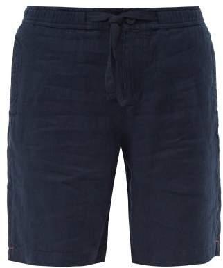 Orlebar Brown Harton Linen Shorts - Mens - Navy