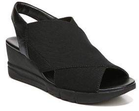 Naturalizer Isabella Leather and Textile Wedge Mules