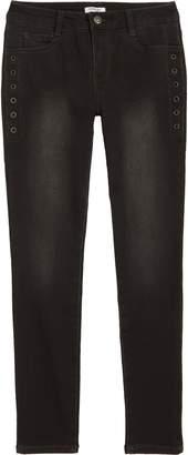Bebe Grommet Detail Skinny Jeans