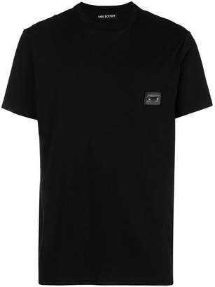 Neil Barrett pierced chest patch T-shirt