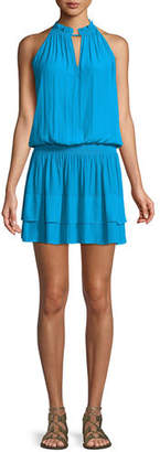 Ramy Brook Mackinley Sleeveless Shirred Short Dress