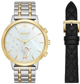 Kate Spade Analog Metro Hybrid Two-Tone Bracelet Watch Box Set
