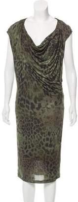 Plein Sud Jeanius Printed Midi Dress