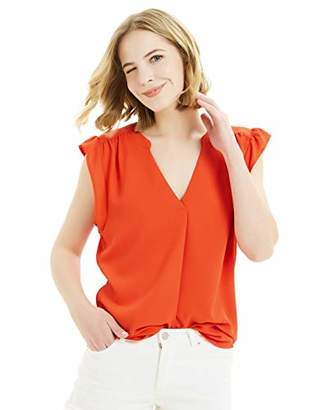 Basic Model Sleeveless Shirts for Women Summer Chiffon Cap Sleeve Blouses V Neck Shirts Tank Tops