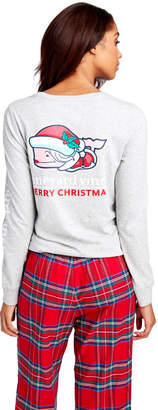 Vineyard Vines Long-Sleeve Mrs. Claus Whale Pocket Tee