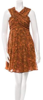 Karen Walker Silk Printed Dress